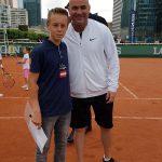 Paul Werren, Juni 2017, Paris, mit Andre Agassi